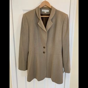 Light brown textured fully lined jacket